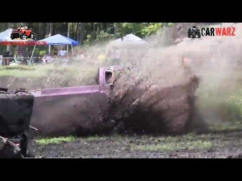 Purple Mud Truck Running Hard At Perkins Summer Sling Mud Bog 2018