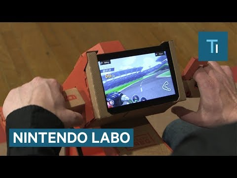 First Look At The Nintendo Switch Cardboard Controller That You Build Yourself
