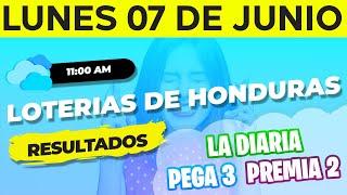 Sorteo 11AM Loto Honduras, La Diaria, Pega 3, Premia 2, Lunes 7 de Junio del 2021   Ganador ????????????????