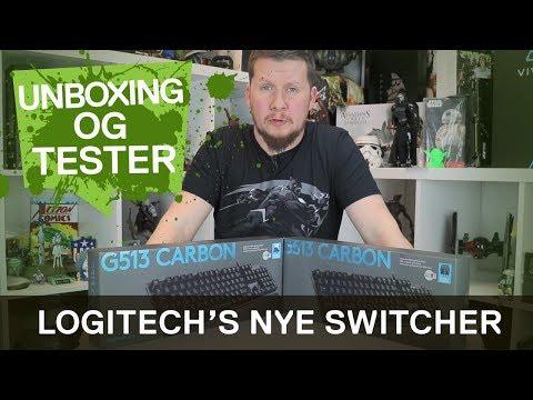 Logitech G513 - Nå med nye Romer-G Linear switcher!