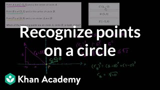 Recognizing points on a circle