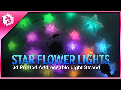 LEARN: Star Flower 3d Printed Light Strand @adafruit #adafruit