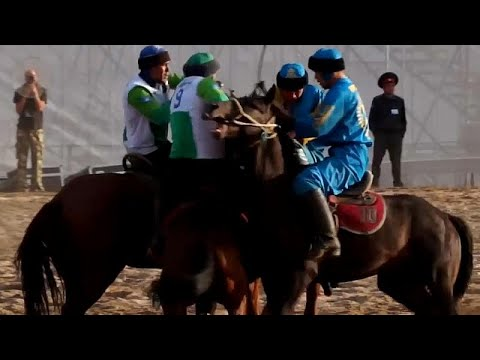 شاهد: ألعاب فريدة من نوعها بدورة ألعاب البدو في قيرغيزستان…