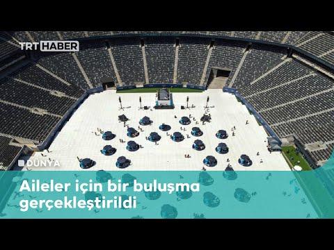 Stadyumda sosyal mesafeli buluşma
