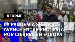 Protestas en Europa por medidas contra el covid-19, cuya expansión se acelera | AFP