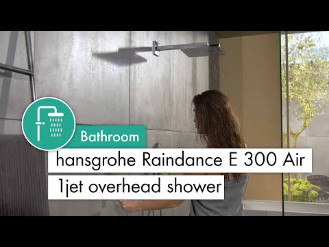 hansgrohe Raindance E 300 Air 1jet overhead shower with Metropol lever handle #26238000