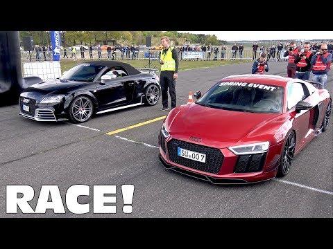 Audi R8 V10 Plus w/ ASG Exhaust! Launch Controls, Drag Races, Revs!