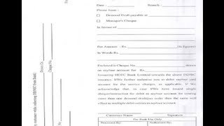 Yes Bank Demand Draft Form Pdf