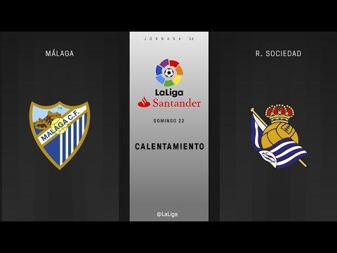 Calentamiento Málaga vs R. Sociedad