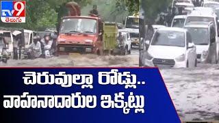 Delhi rains : Roads flooded, traffic snarls in several parts of capital - TV9 - TV9