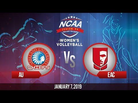 NCAA 94 Women's Volleyball: AU vs. EAC | January 7, 2019