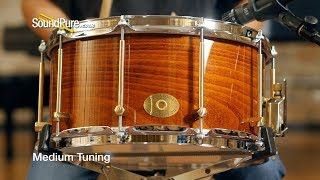 Noble & Cooley 7x14 SS Classic Beech Snare Drum-Honey Maple Quick n' Dirty