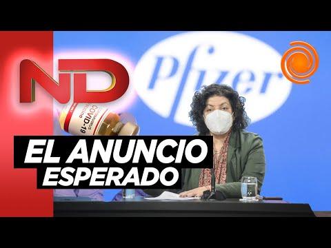 El Gobierno Argentina firmó un acuerdo con Pfizer por 20 millones de vacunas
