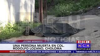 Sin vida hallan a joven en calle de col. Rodolfo Lozano, Choloma