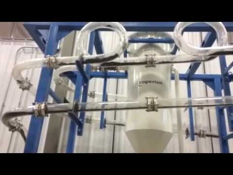 Demonstration of two types of pneumatic conveyance systems
