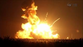 Antares rocket explodes on lift-off