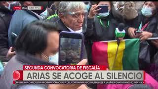 Iván Arias se presentó a declarar y salió aplaudido por sus seguidores