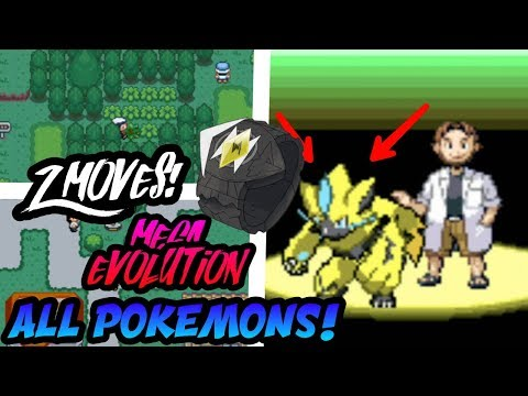 connectYoutube - POKEMON GBA ROM HACK WITH ALL POKEMONS, MEGA EVOLUTION, Z MOVES & MANY MORE!! (Gameplay)