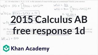 2015 AP Calculus AB/BC 1d