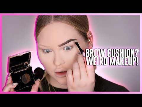 "TESTING THE WEIRDEST BROW PRODUCT: Eyebrow Cushion""!"