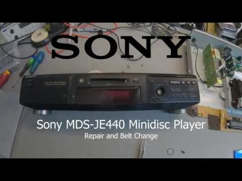 view Sony MDS-JE440 Minidisc loading belt replacement and repair