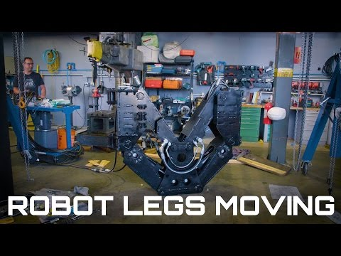 Giant Robot Leg Moving! (Behind The Scenes)