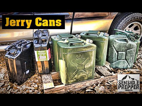 SHTF Gasoline Storage  Military Gas Cans