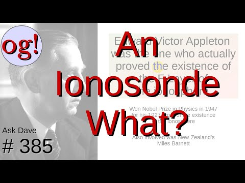 That Funny Line Is An Ionosonde! (#385)