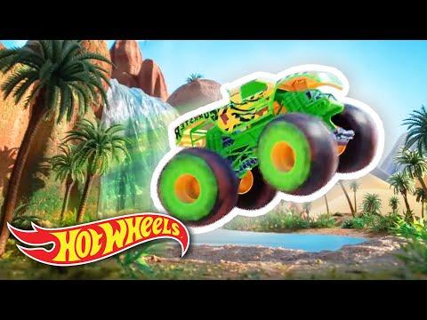 CRAZIEST MONSTER TRUCK ISLAND CHALLENGES! 🏝️ | Monster Trucks | @HotWheels