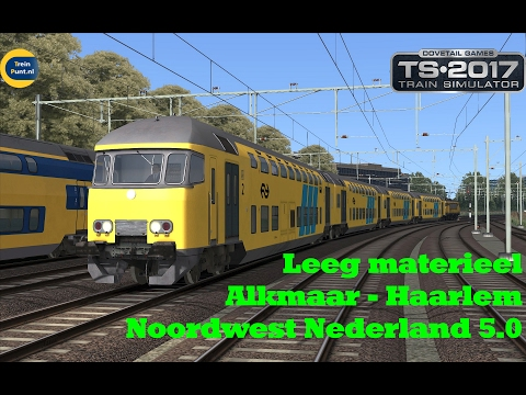 Leeg materieel Alkmaar - Haarlem | Noordwest Nederland 5.0 | Train Simulator 2017