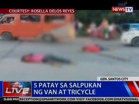 NTVL: 5 patay sa salpukan ng van at tricycle sa GenSan