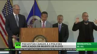 Presentan cargos contra otros 3 agentes involucrados en la detención de George Floyd
