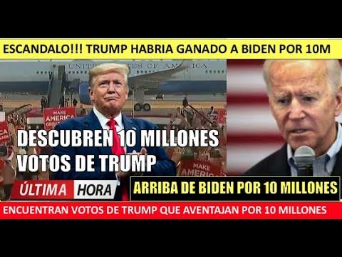 Descubren 10 millones de votos de Trump superando a Biden