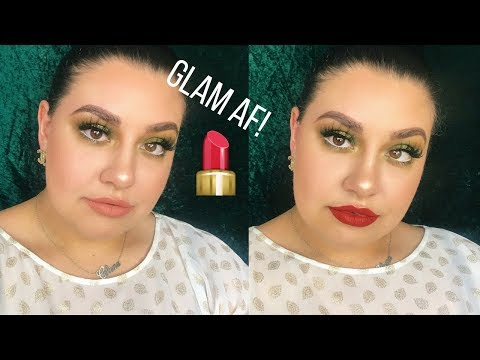 connectYoutube - Green Glam AF Holiday Eye Look - Morphe Brushes 39A Dare to Create Palette | Celina Pereira