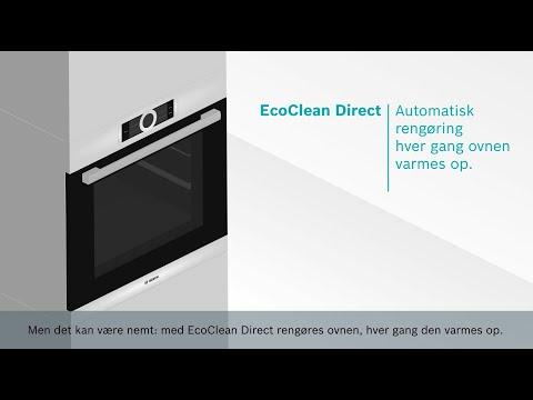 Bosch indbygningsovne med EcoClean – giver dig minimal rengøring