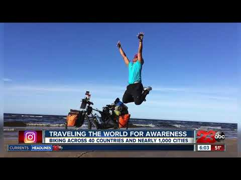 connectYoutube - An India native is traveling the world by bike, started world tour on November 10, 2014