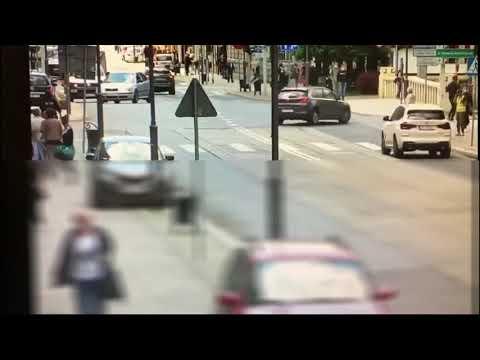 """Brawurowa akcja zatrzymania fałszywego """"policjanta"""" w centrum Gliwic"""