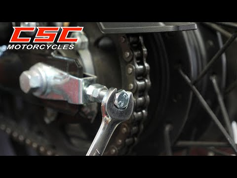 Chain Adjustment  and 16 Tooth Front Sprocket Installation