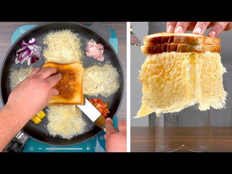 Обжариваю Кусочки Хлеба на Сковороде - Самая Простая и Красивая Закуска в Мире