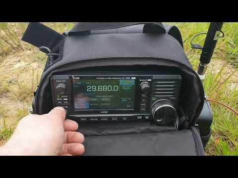 Icom 705 1000mIles Uk to Poland FM Portable
