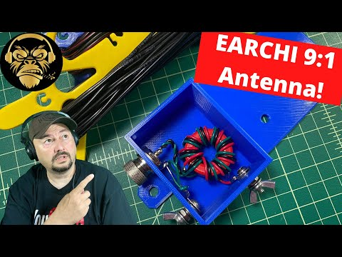 Lid TIps - DIY EARCHI 9:1 End Fed Ham Radio Antenna - TheSmokinApe