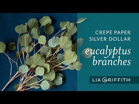 DIY Crepe Paper Silver Dollar Eucalyptus Branches