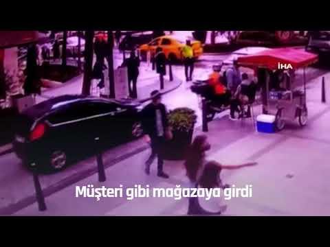 NTV | Saniyeler içinde 225 bin liralık çantayı çaldı
