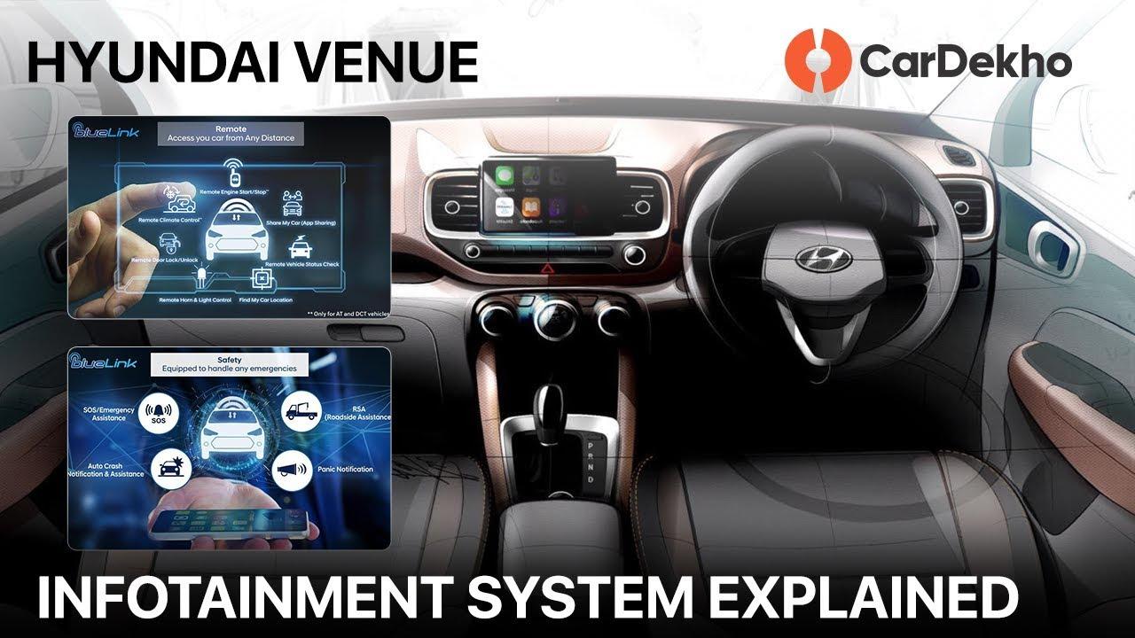 Hyundai Venue BlueLink Infotainment Explained:    ? | CarDekho.com