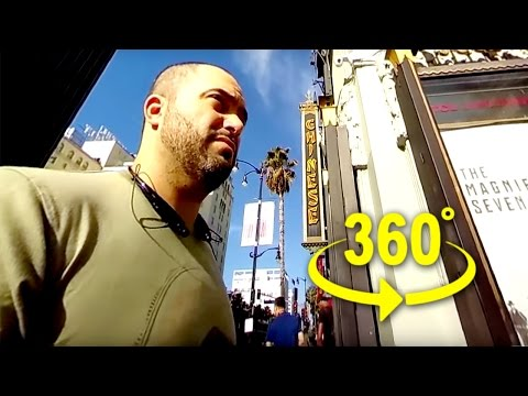 connectYoutube - Chinese Man Theater On Hollywood || 360 Degree Video || #YT360Day