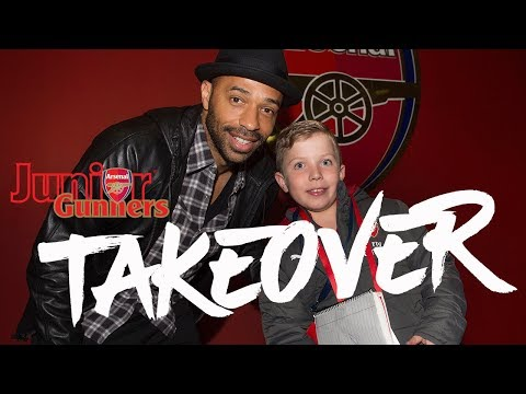 I'VE HAD A MEETING, SOME DINNER & MET THIERRY HENRY! | Junior Gunners take over Emirates Stadium