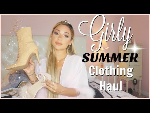 girly summer clothing haul