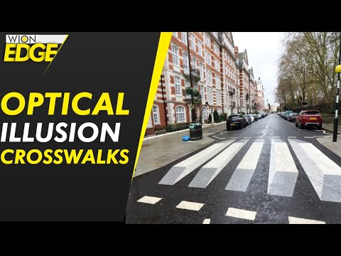 Optical illusions aim to make crossing road safer