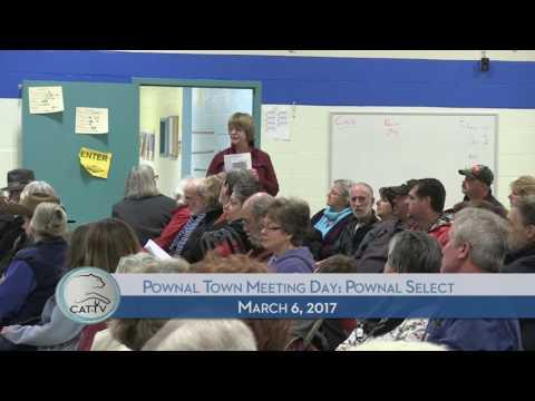 Pownal Town Meeting Day: Select Board - 3/6/17