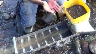 Self Feeding Sluice Box! Cool new invention takes the pain out of feeding a sluice box.